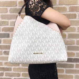 39b5bfe0fa259d Michael Kors Bags - NWT Michael Kors Aria Medium Top Zip Shoulder Bag